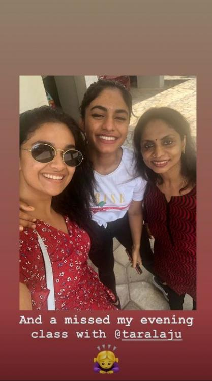 Keerthy Suresh shares a radiant no makeup selfie as she spends time with her mains