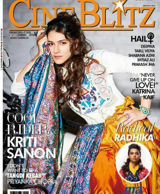Kriti Sanon Is Such A Cool Rider On The Cover Of Cineblitz ...