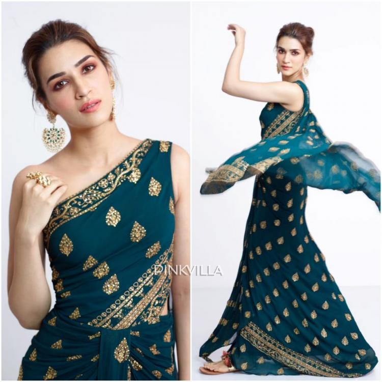 Kriti Sanon goes for a contemporary saree gown : Yay or Nay?