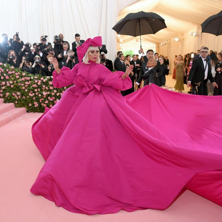 Met Gala 2019: Lady Gaga stepped out in an awesome fuchsia pink and then stripped to her bare minimum