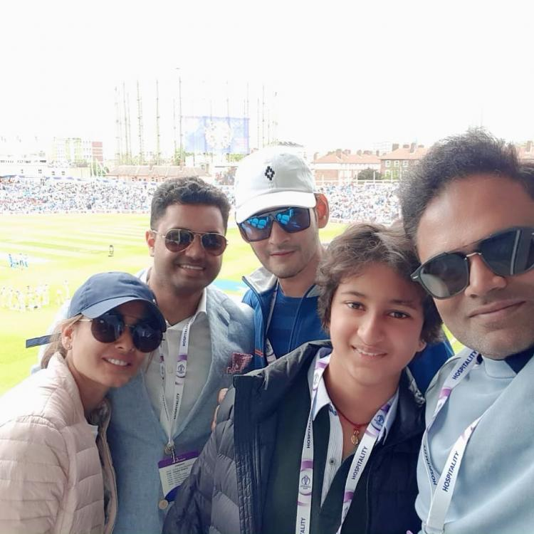 Video: Mahesh Babu's son Gautham cheering for the Indian cricket squad in the stadium is endearing
