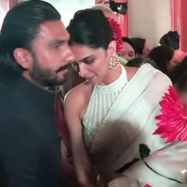 Deepika Padukone and Ranveer Singh make way for a stunning pair as they get clicked in a wedding in the city