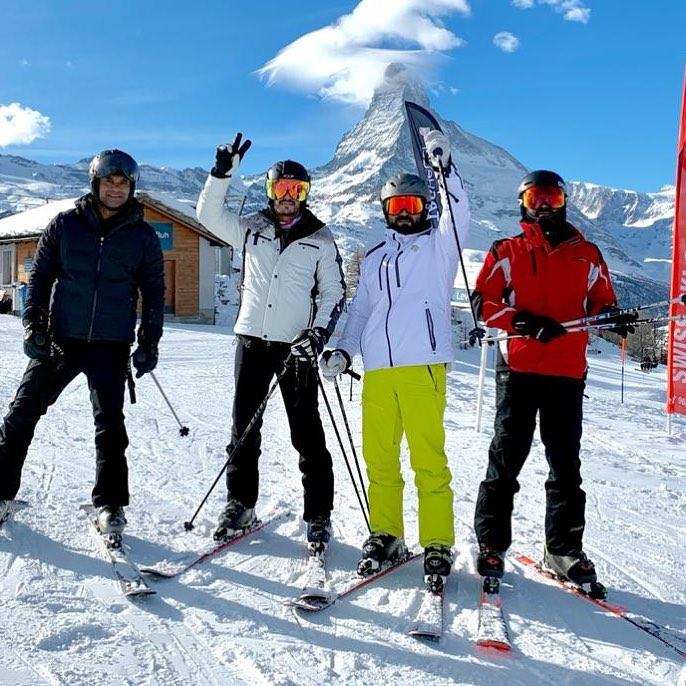 Ram Charan enjoys skiing like a pro and you can't miss Upasana's witty reaction to it