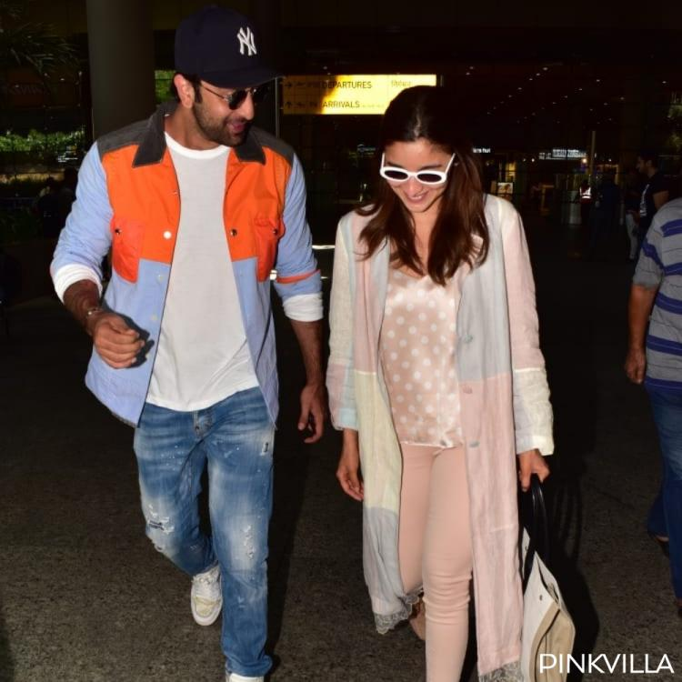 Photos: Ranbir Kapoor and Alia Bhatt can't stop smiling as they return to the bay from their vacation