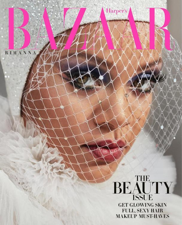 Rihanna's rainbow eye makeup on the cover of Harper's Bazaar could be the latest IT beauty trend