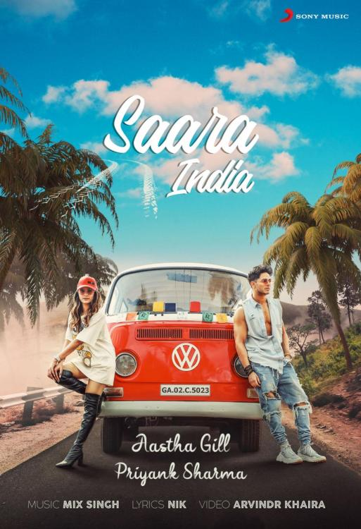 Priyank Sharma shares first poster of his brand new music video 'Saara India' with Aastha Gill; Check it out
