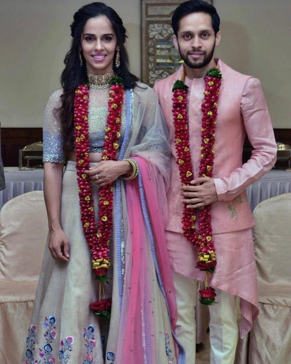 Badminton champion Saina Nehwal and Parupalli Kashyap tie the knot; share their FIRST WEDDING PHOTO | PINKVILLA