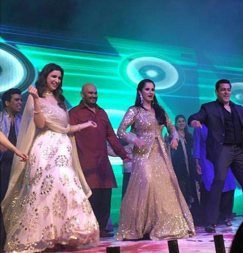 Salman Khan, Parineeti Chopra made Sania Mirza`s sister`s sangeet ceremony all filmy!