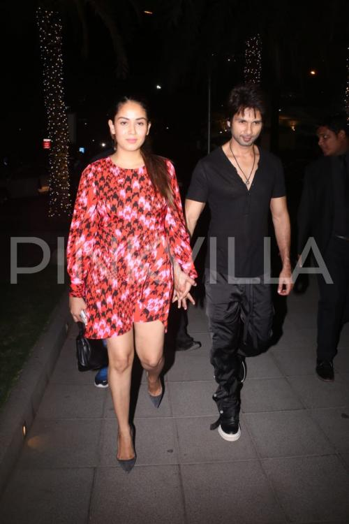 Photos: Shahid Kapoor and Mira Rajput make for a hot couple during their dinner date in Mumbai | PINKVILLA