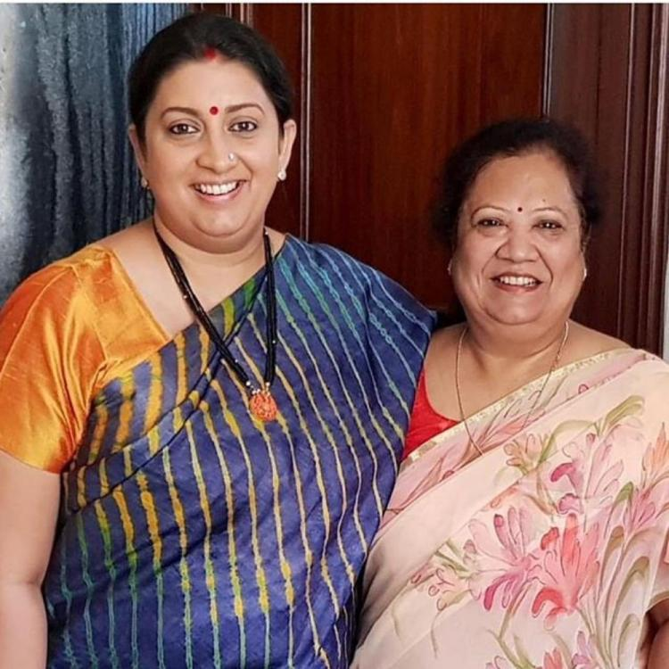 Smriti Irani's then and now pics earn her praises from her fans for her ability to laugh on herself; View Post