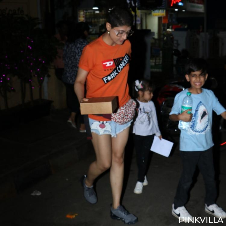 Tahira Kashyap flaunts a BOLD message with her tee as she steps out with kids in Mumbai; See Pics