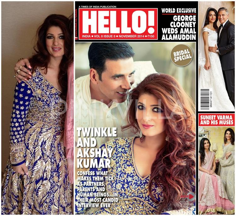 Yay or nay akshay kumar and twinkle khanna cover hello for Interior designs by twinkle khanna