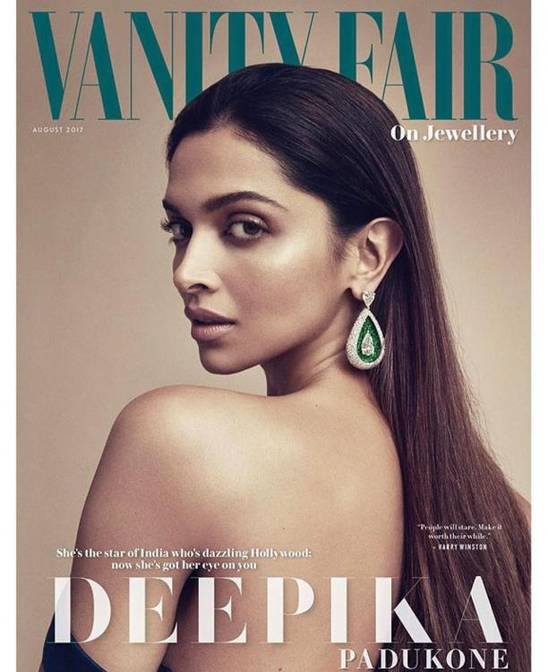 Conquering Hollywood- Deepika Padukone strikes a pose on the cover of Vanity Fair