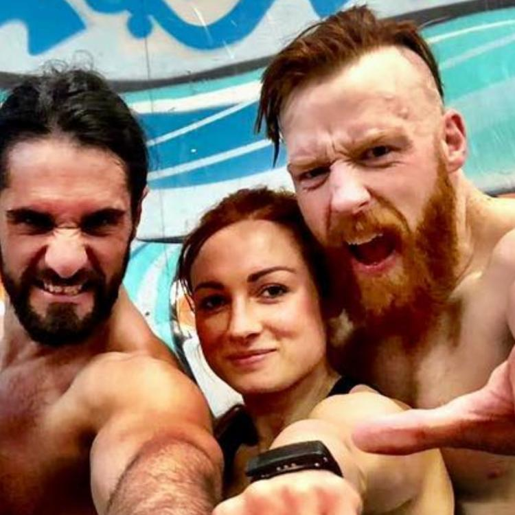 Seth Rollins was asked about the dating rumours with Becky Lynch.