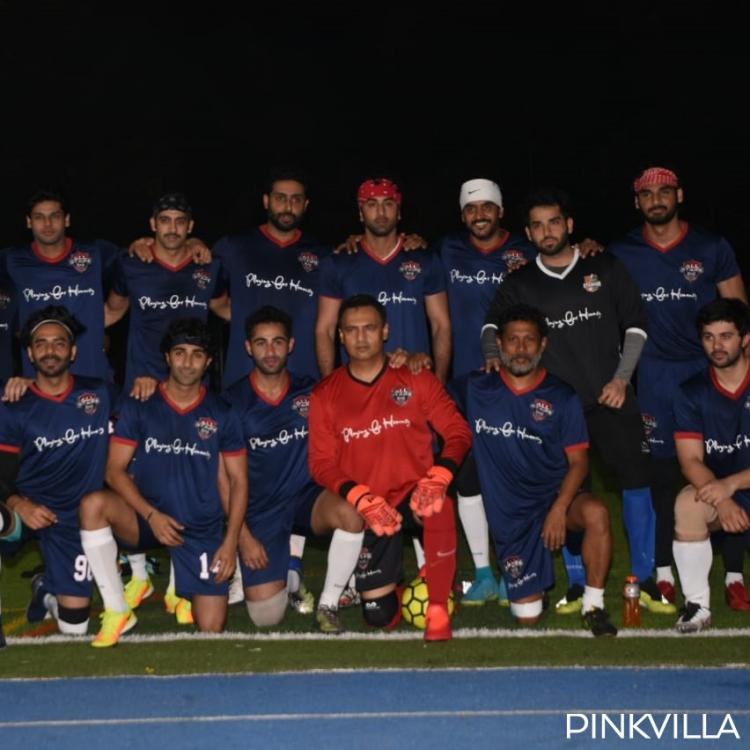 Ranbir Kapoor, Abhishek Bachchan & others gear up for a soccer match against television celebrities; View Pics