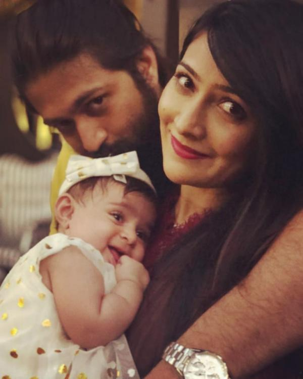 KGF star Yash's UNSEEN photos with his little bundle of joy 'Baby YR' are too cute to miss
