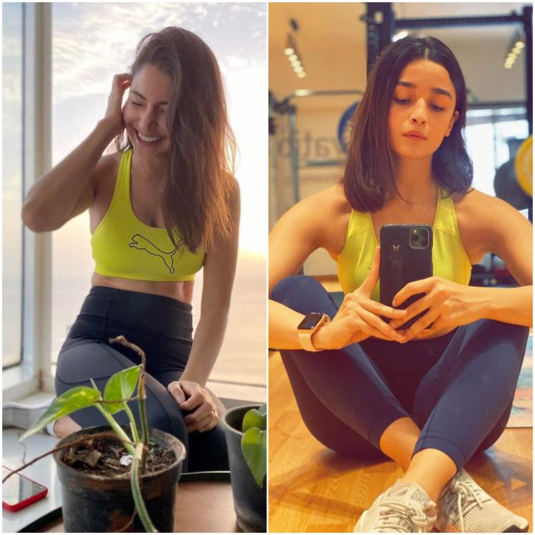 Fashion Faceoff: Anushka Sharma or Alia Bhatt: Who wore the neon and black workout gear the best?