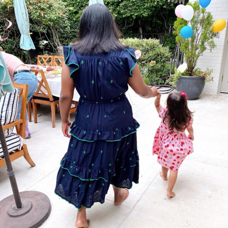 In honor of her 41st birthday, Mindy Kaling shares a rare snapshot into life at home with her little girl.
