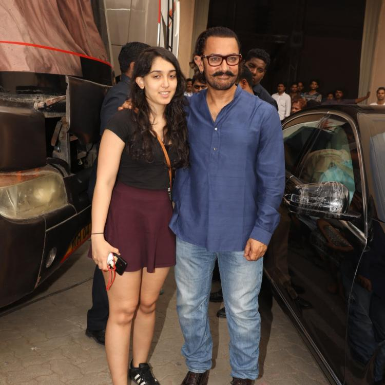 Aamir Khan heads to Bengaluru to watch daughter Ira Khan's play amidst filming Laal Singh Chaddha