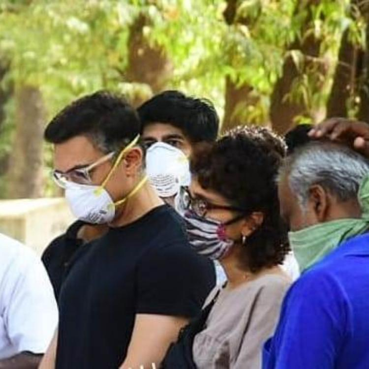PHOTOS: Aamir Khan and Kiran Rao attend the last rites of his assistant Amos