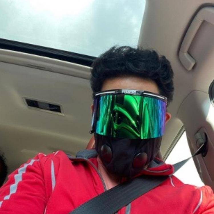 Abhishek Bachchan wears a face mask & shield as he steps out of his house