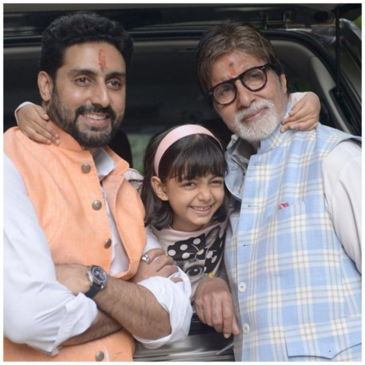 After Aishwarya Rai Bachchan, Amitabh Bachchan & Abhishek are proud of Aaradhya's tribute to COVID 19 warriors