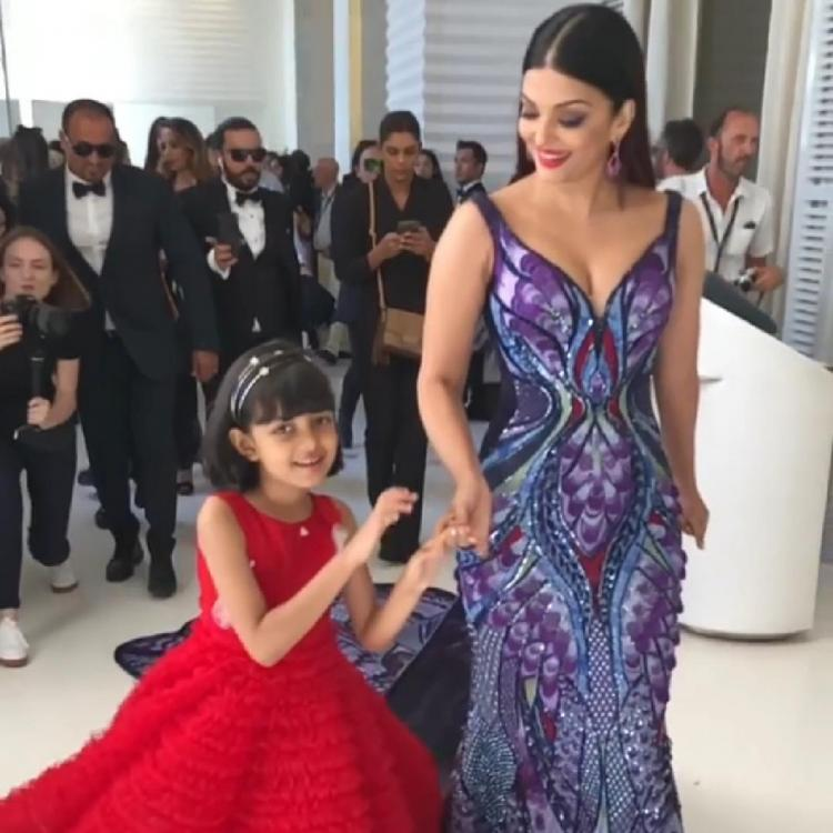 Aishwarya Rai Bachchan with daughter Aaradhya at Cannes