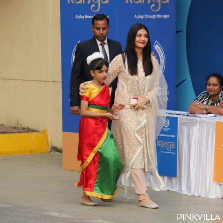 PHOTOS: Aishwarya Rai Bachchan looks ethereal in her beige coloured suit for Aaradhya Bachchan's annual day