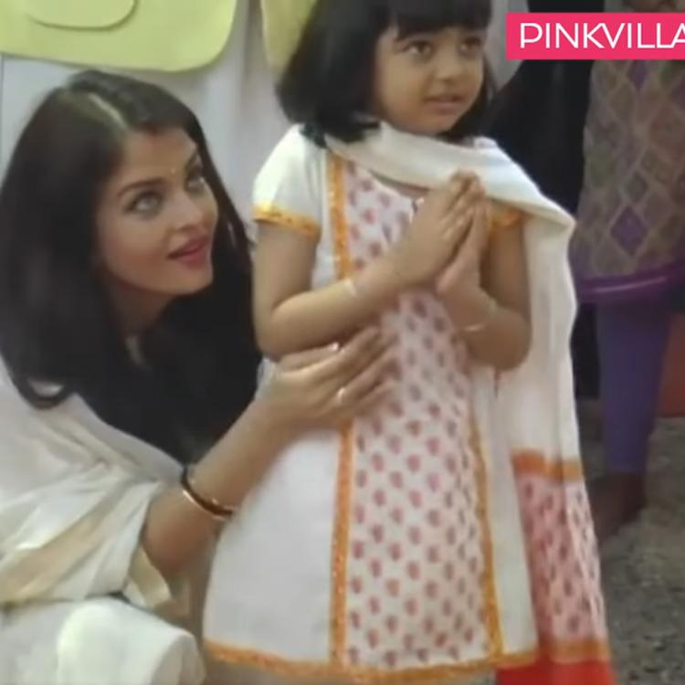 Aishwarya Rai Bachchan teaches Aaradhya how to pray at Durga puja