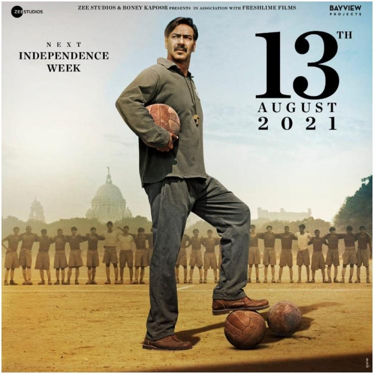 Ajay Devgn announces Maidaan's new release date amid COVID 19 crisis; Postponed to Independence Day week 2021
