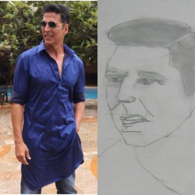Akshay Kumar wins the internet with his sweet reply to a 10 year old fan who chose him for his first sketch
