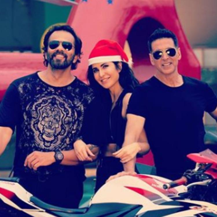 Katrina Kaif is enjoying the Christmas spirit with Akshay Kumar, Rohit Shetty and team Sooryavanshi; view PICS