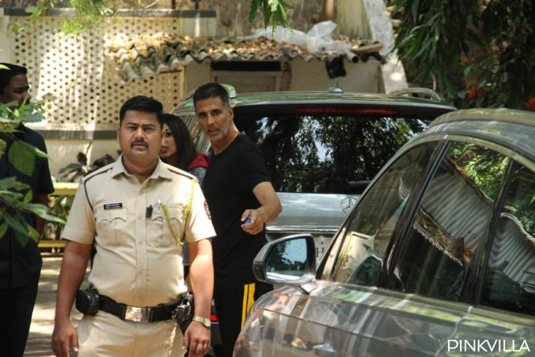 PHOTOS: Akshay Kumar flaunts his salt and pepper look as steps out for a shoot