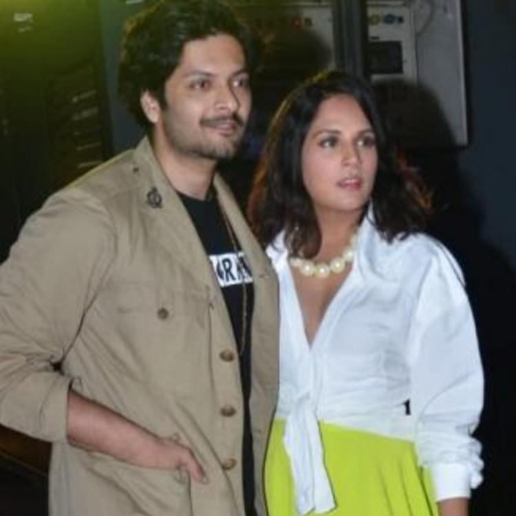 Richa Chadha and Ali Fazal snapped at screening.