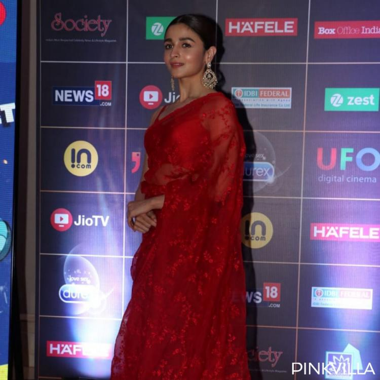 PHOTOS: Alia Bhatt paints the town red as she dons a sheer saree for an event