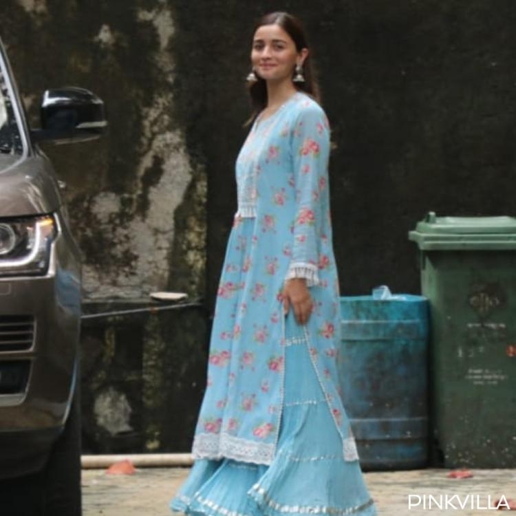 PHOTOS: Alia Bhatt stuns in a breezy blue outfit & flashes her smile post visiting Bhansali's office