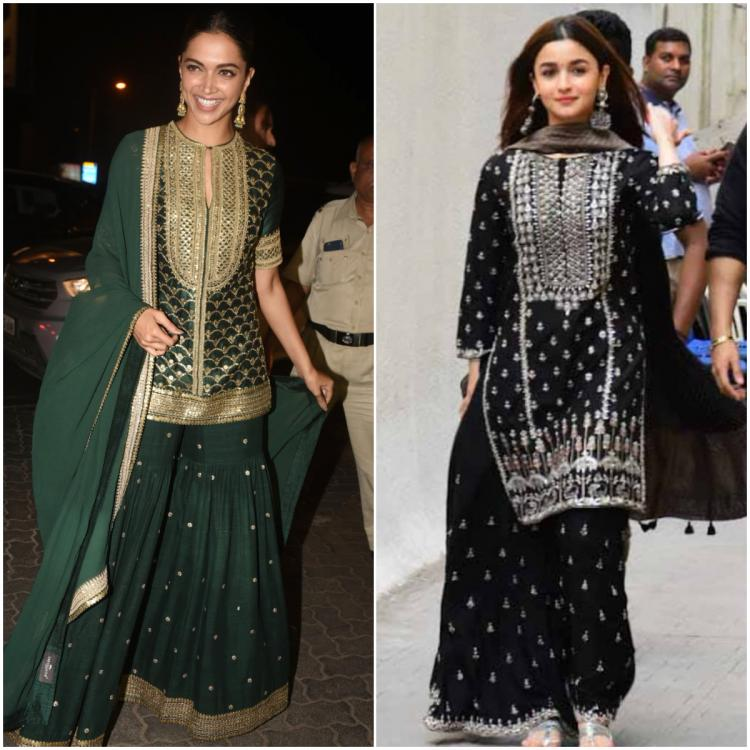 Fashion Faceoff: Deepika Padukone or Alia Bhatt; Who wore the embellished sharara the best?