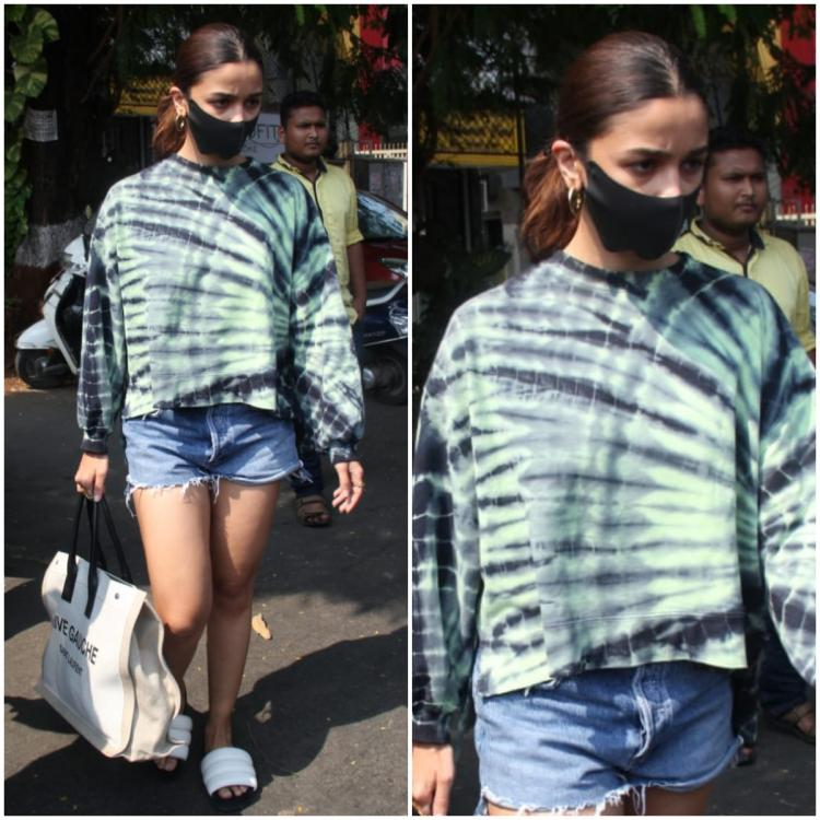 Alia Bhatt makes a strong case for tie dye as she styles it with her Saint Laurent arm candy; Yay or Nay?