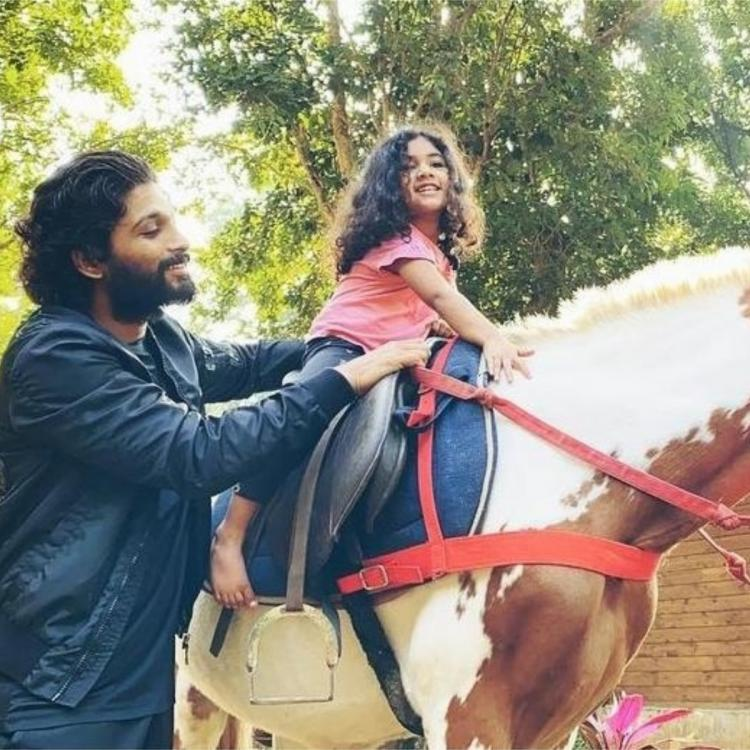 Allu Arjun takes daughter Arha on a horse ride as a birthday surprise and showers her with gifts