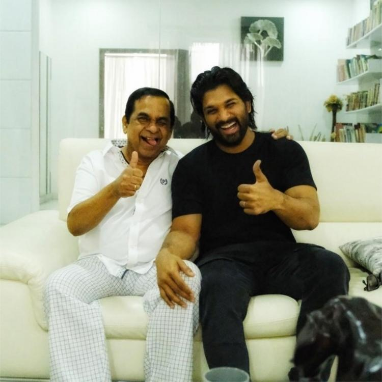 Allu Arjun receives a surprise from actor Brahmanandam; Calls it the most priceless gift: Take a look