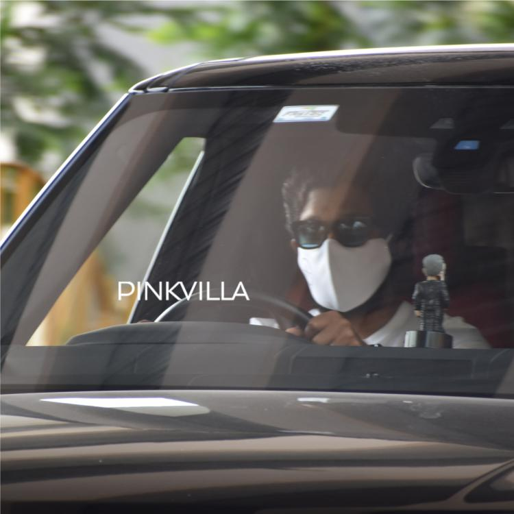 Allu Arjun gets papped in Hyderabad as he drives his swanky car; See PHOTOS