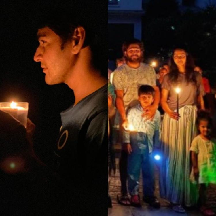 #9baje9minute: Mahesh Babu and Allu Arjun express solidarity by lighting candles; urge fans to stay home