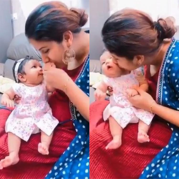 Alya Manasa and Sanjeev's daughter is cute as a button as she plays with her mom; WATCH video