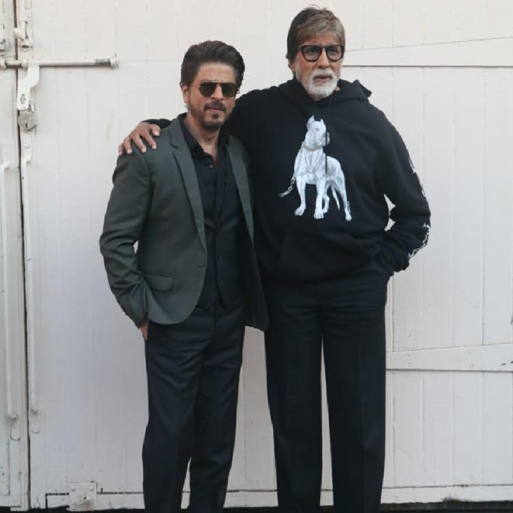 Amitabh Bachchan and Shah Rukh Khan come together for a special video for their upcoming film Badla