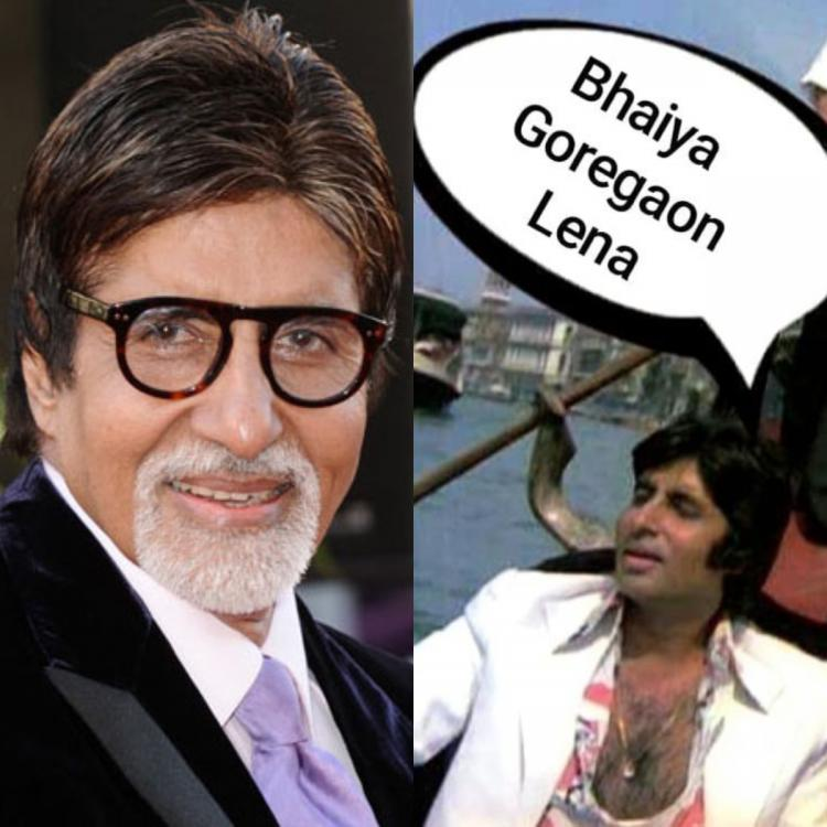Amitabh Bachchan shares a funny monsoon meme featuring a still from his movie Great Gambler; Check it out