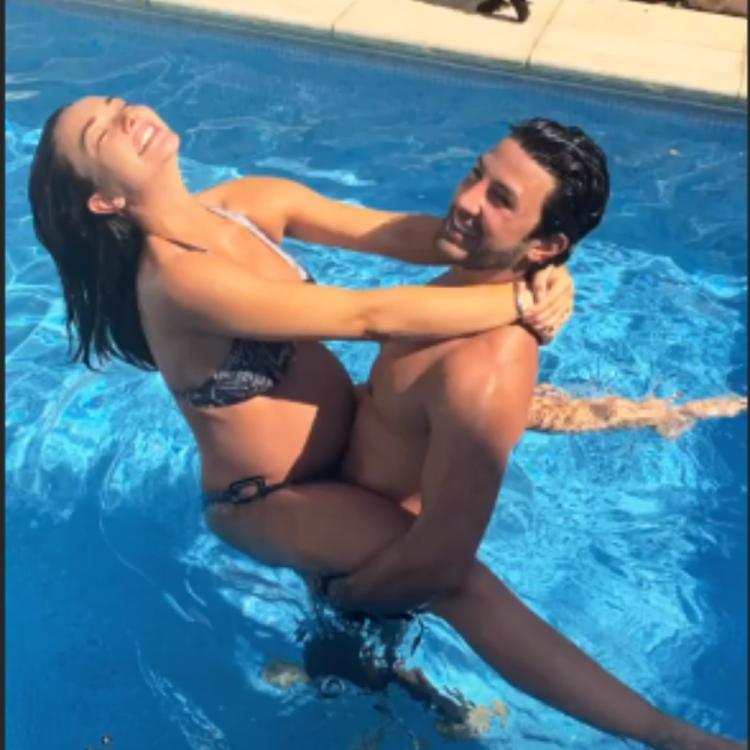 Mommy to be Amy Jackson chills in the pool with fiance George Panayiotou; View PICS
