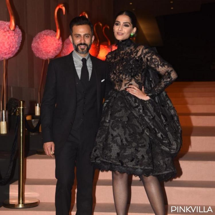 PHOTOS: Sonam Kapoor Ahuja and husband Anand K Ahuja look all things regal as they twin in black