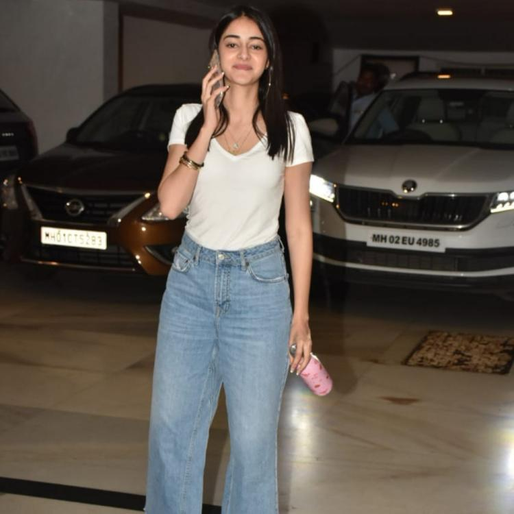 PHOTOS: Ananya Panday spotted outside filmmaker Karan Johar's house; new movie on the cards?
