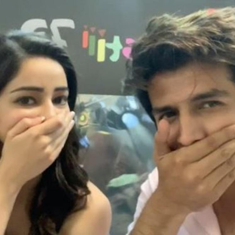 Ananya Panday takes over Kartik Aaryan aka Chintu Tyagi's moustache in a goofy video; Check it out
