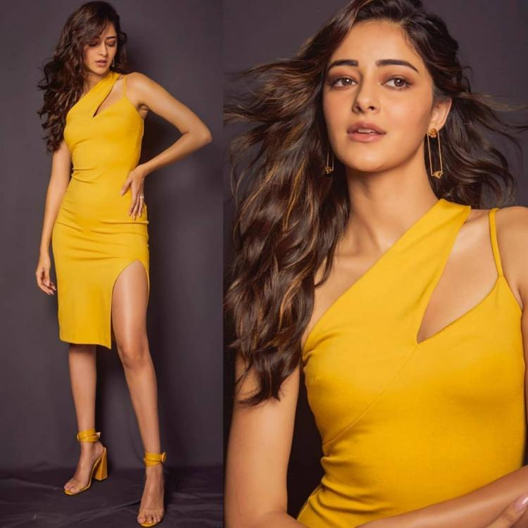 Ananya Panday in a bodycon midi by AQAQ for Pati, Patni Aur Woh promotions; Yay or Nay?